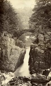 Scotland Dunkeld Hermitage Bridge Old Photo Georges Washington Wilson 1880