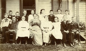 USA Grove Allen Sunday School Class Emma Clark teacher Old Photo 1890