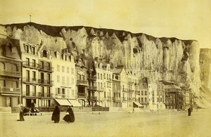 France Le Treport Panorama Shop Seaside two Old Photos 1890