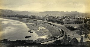 Wales Llandudno From Above The Baths Seaside Old Francis Bedford Photo 1860