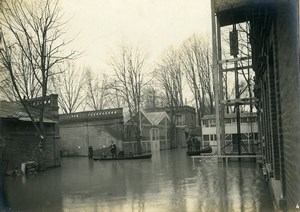 France Boulogne sur Seine Floods Automobiles Butterosi Factory Old Photo 1924