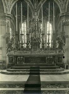 France Paris? Church Interior Altar Religion Old Photo 1910