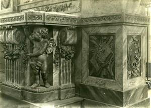France Paris ? Detail Piece of Art Church Religion Old Photo 1910