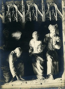 France Chartres Cathedral The Adulterous Woman Etienne Houvet Old Photo 1910