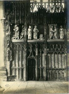 France Chartres Cathedral Virgin Mary's Birth Etienne Houvet Old Photo 1910