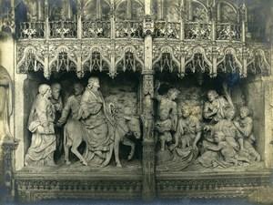 France Chartres Cathedral Christ enters Jerusalem Etienne Houvet Old Photo 1910