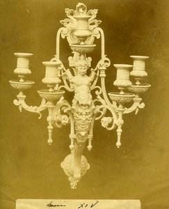 France Paris Piece of Art Louis XIV Chandelier Old Photo 1890