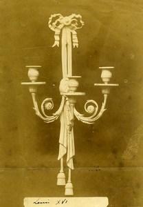France Paris Piece of Art Louis XVI Chandelier Old Photo 1890