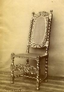 France Pau Castle Piece of Art Louis XIII Chair Old Photo 1890