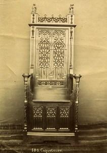 France Paris Piece of Art Caqueteuse Conversation chair Old Photo 1890
