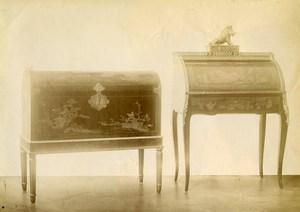 France Paris Piece of Art Furniture Chest & Desk Old Photo 1890