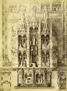 France Brou Church Altarpiece Gothic Retable Old Photo 1890