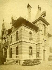 France Paris ? Architect's house Old Photo 1890