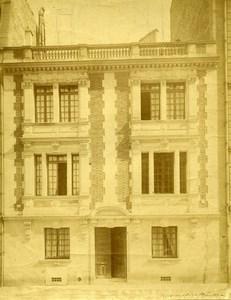 France Paris ? Rue Le Chatelier Architect's house Old Photo 1890