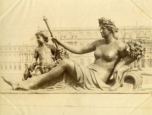 France Versailles Castle Fountain Bassin Statue Old Photo 1890
