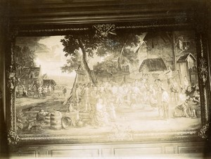 France Paris Tapestry or Painting Piece of Art Old Photo 1890