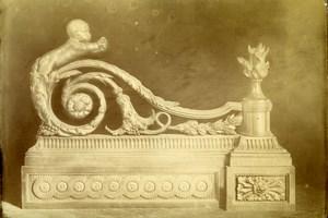 France Paris Sculpture Piece of Art Old Photo 1890