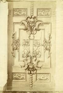 France Paris Doors Shutters ? Sculpture Piece of Art Old Photo 1890
