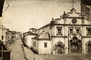 Portugal Azores Sao Miguel Ponta Delgada Church Old Photo Raposo 1890