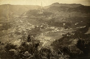 Portugal Azores Sao Miguel Furnas Panorama Old Photo Raposo 1890