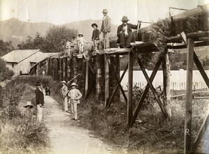 Portugal Azores Sao Miguel Furnas Sawmill? Serragem Old Photo Raposo 1890
