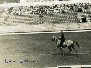 London Olympia Horse Show Dressage Lieutenant Lavergne & Needle Old Photo 1938