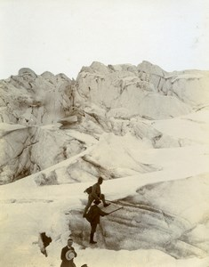 France Chamonix Alpine Glacier Alps Mountain Old Amateur Photo 1910