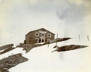 Switzerland St Moritz Berghaus Diavolezza Alps Mountain Old Amateur Photo 1910