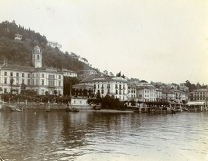 Italy Lake Como Bellagio Grand Hotel Alpine Tour Old Amateur Photo 1910