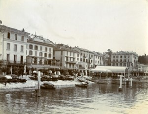 Italy Lake Como Bellagio Hotel Genazzini e Metropole Old Amateur Photo 1910