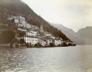 Italy Lake Como Bellagio region Alpine Tour Old Amateur Photo 1910