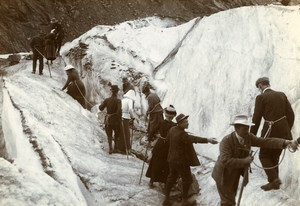 France Chamonix Mer de Glace Glacier Alps Mountain Old Amateur Photo 1910