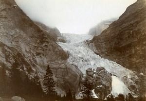 France Chamonix Mer de Glace Glacier Alps Mountain Old Amateur Photo 1910