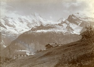 Switzerland Mürren Jungfrau Kurhaus Grand Hotel Alps Old Amateur Photo 1910