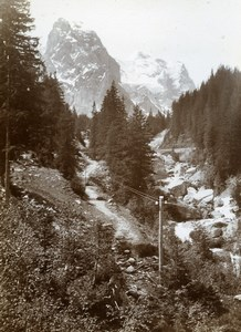 Switzerland Wellhorn Wetterhorn Alps Mountain Old Amateur Photo 1910