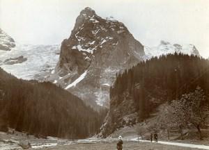 Switzerland Rosenlaui Glacier Wellhorn Alps Mountain Old Amateur Photo 1910