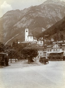 Switzerland Village Lake Lucerne Hotel du Lac St Gotthard Old Amateur Photo 1910