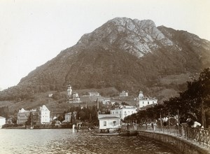 Switzerland Paradiso Lake Lugano Castello Cattaneo Old Amateur Photo 1910