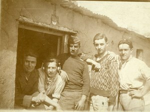 Syria Djezireh Al-Hasakah French Militairy Mandate Group Old Amateur Photo 1929
