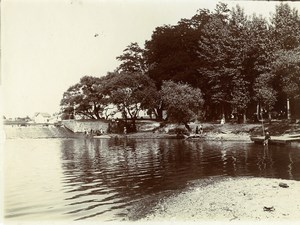 France French Countryside Landscape Riverside Trees Old Amateur Photo 1900