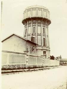 France Lorraine? Countryside French Landscape Water Tower Old Amateur Photo 1900