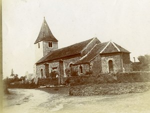 France Lorraine? French Landscape Old Church Old Amateur Photo 1900