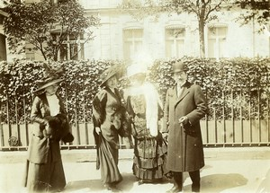 Daily Life in France Promenade Belle Epoque Fashion Old Amateur Photo 1900