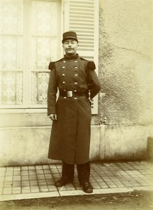 Daily Life in France Military Soldier Uniform Old Amateur Photo 1900