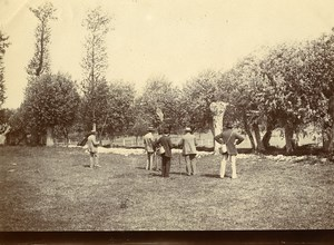 Daily Life in France Men Fishing Villers-Cotterêts? Old Amateur Photo 1900