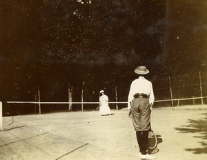 Daily Life in France Tennis Players Old Amateur Photo 1900