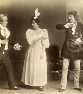 Daily Life in France Scene de Genre Fancy Dress Old Amateur Photo 1900
