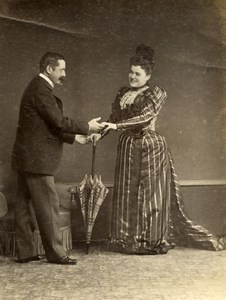 Daily Life in France Scene de Genre Costume Old Amateur Photo 1900