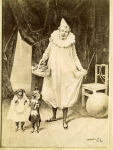 France Arts Salon de 1897 Pierrot & Chiens Mariage de Raison par Beyle ancienne Photo 1900