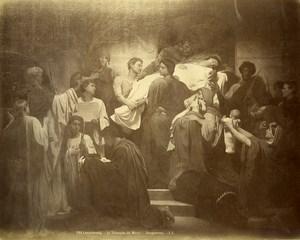 France Arts Peinture Luxembourg le Triomphe du Martyr par William Bouguereau ancienne Photo 1900